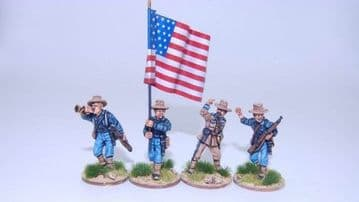 US1SA Federal Infantry command group advancing