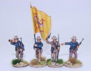 US4SA US Dismounted Cavalry/Rough Riders command group