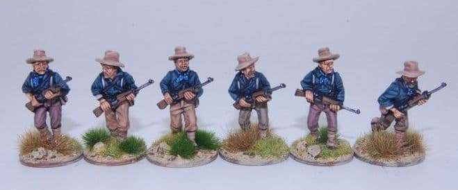 US5SA Dismounted Cavalry/Rough Riders advancing