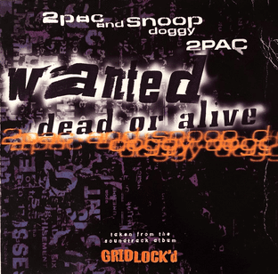 """2Pac & Snoop Doggy Dogg - Wanted Dead Or Alive (12"""") (G-VG/G)"""