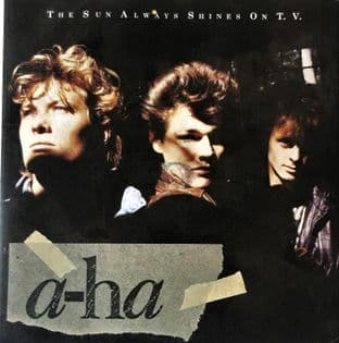 "A-Ha - The Sun Always Shines On T. V.  (7"") (EX-/VG-)"
