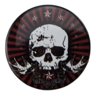 Alchemy England - Skull & Birds (38mm Button Badge)