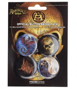 Alchemy Gothic - Official Button Badge Pack