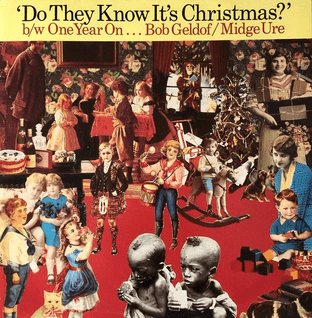 """Band Aid - Do They Know It's Christmas? (1985) (12"""") (EX/VG+)"""