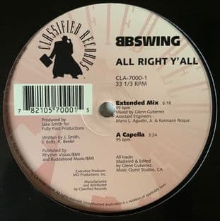 "BB Swing ‎- All Right Y'all (12"") (G-VG/NM)"