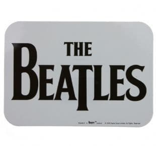 Beatles (The) - Drop T Logo Black On White (Sticker)