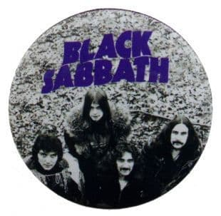 Black Sabbath - Master Of Reality Band Shot & Logo (38mm Button Badge)