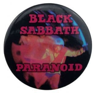 Black Sabbath - Paranoid (38mm Button Badge)