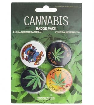 Cannabis - Official Button Badge Pack
