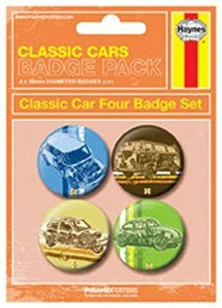 Classic Cars - 4 Badge Pack