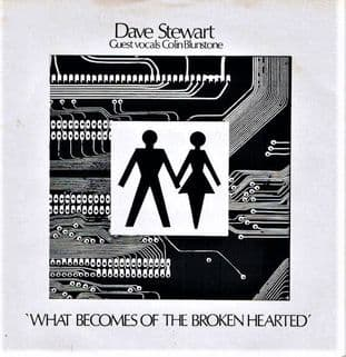 "Dave Stewart ‎- What Becomes Of The Broken Hearted (7"") (VG-/G+)"