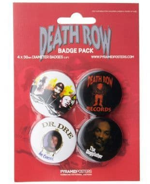 Death Row Records - Official Button Badge Pack