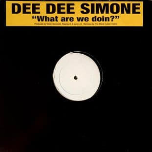 "Dee Dee Simone ‎- What Are We Doin'  (12"") (Promo) (VG-/G++)"