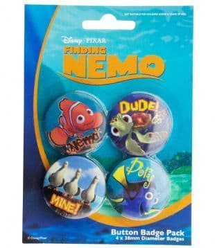 Disney-Pixar Finding Nemo - Official Button Badge Pack