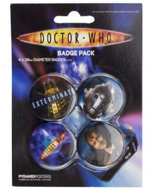 Doctor Who - Official Button Badge Pack