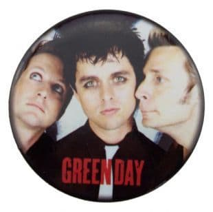 Green Day - Head Shots & Logo (38mm Button Badge)