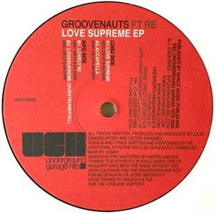 "Groovenauts ft Re - Love Supreme EP (12"") (VG/VG-)"
