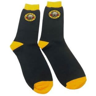 GUNS N' ROSES UNISEX ANKLE SOCKS: CIRCLE LOGO (UK SIZE 7 - 11) (New)