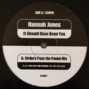 """Hannah Jones - It Should Have Been You (12"""") (Promo) (VG-/VG-)"""