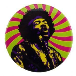 Jimi Hendrix - Psychedelic 1 (38mm Button Badge)