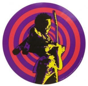 Jimi Hendrix - Psychedelic With Guitar (Sticker)
