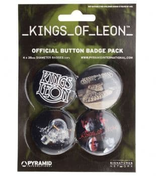 Kings Of Leon - Official Button Badge Pack
