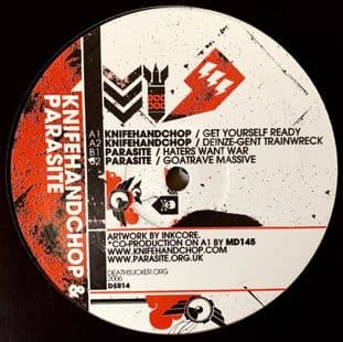 """Knifehandchop/Parasite - Get Yourself Ready/Haters Want War (12"""") (G-VG/VG)"""