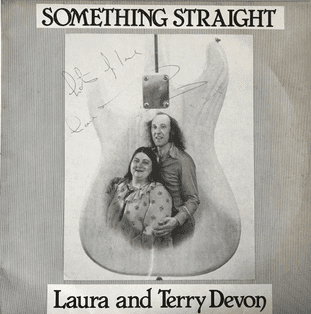 Laura And Terry Devon - Something Straight (LP) (Signed) (EX/VG-)