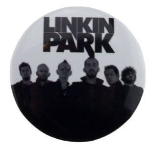 Linkin Park - Minutes To Midnight Band Shot & Logo (38mm Button Badge)