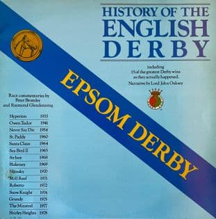 Lord John Oaksey (Narrator) - Epsom Derby: History Of The English Derby (LP) (EX-/G++)