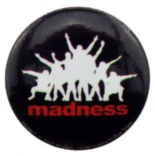 Madness - 7 Silhouette Logo (25mm Button Badge)