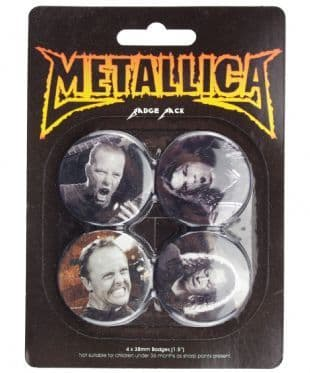 Metallica - Official Button Badge Pack