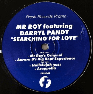 "Mr Roy ft Darryl Pandy ‎- Searching For Love (12"") (Promo) (G/G+)"