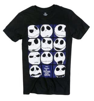 Nightmare Before Christmas Faces of Jack T-shirt  (LARGE)