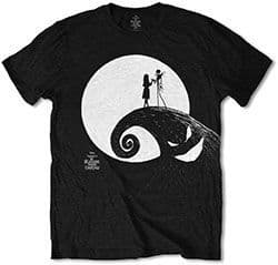 Nightmare Before Christmas Jack and Sally Swirl T-shirt (1XL)