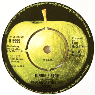 "Paul McCartney & Wings - Junior's Farm (7"") (VG/NM)"