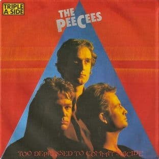 "Peecees (The) - Too Depressed To Commit Suicide (7"") (VG-/VG)"
