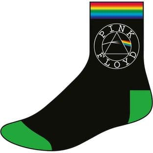 Pink Floyd Unisex Ankle Socks: Circle Logo (UK Size 7 - 11) (New)