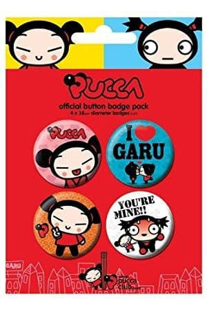Pucca - 4 Badge Pack
