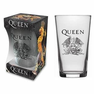 QUEEN - PINT GLASS (NEW/BOX) (pg015)