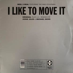 "Reel 2 Real ft The Mad Stuntman - I Like To Move It (12"") (G-/G)"