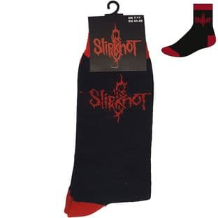 SLIPKNOT UNISEX ANKLE SOCKS: LOGO (UK SIZE 7 - 11) (New)
