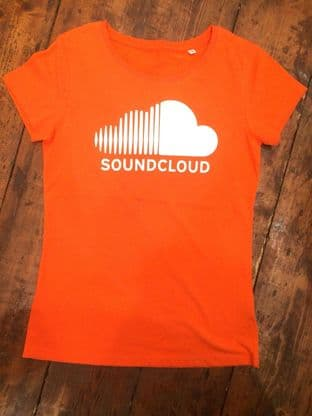 Soundcloud T Shirt (MEDIUM) (ORANGE)