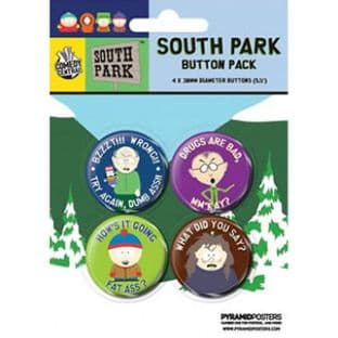 South Park - 4 Badge Pack