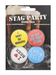 Stag Party - 4 Badge Pack