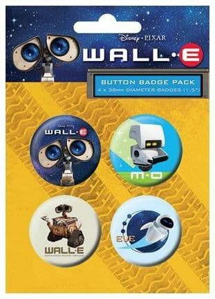 Wall.E - 4 Pack Badge