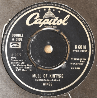 "Wings ‎- Mull Of Kintyre/Girls' School (7"") (VG-EX/G)"
