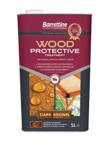 Barrettine wood protector dark brown 5L