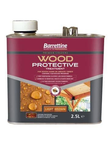 Barrettine wood protector light brown 2.5L