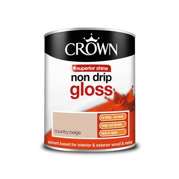 Crown Non Drip Gloss Country Beige 750ml